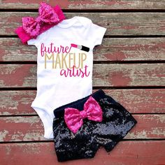 Future Make Up Artist Bodysuit, Baby Girl, Girls, Toddler, Make Up, Lipstick…
