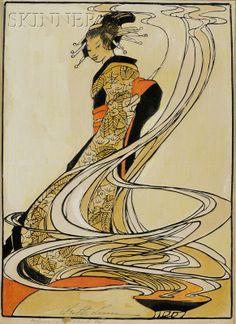 Bertha Lum (American, 1869-1954)  'Incense'