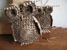 Jumbo Cardboard Owl Wall Hanging/Valentine. $30.00, via Etsy.