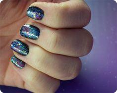 Galaxy Nail Tutorial from beautylish.   #nails #beauty #tutorial