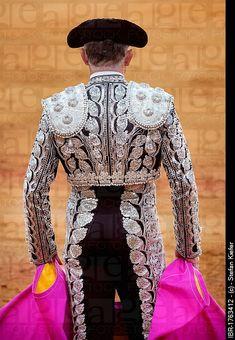Torero, Matador in costume from behind, Plaza de Toros de la Maestranza bull ring, Seville