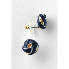 Lands' End Enamel Knot Stud Earrings ($19) ❤ liked on Polyvore featuring jewelry, earrings, enamel earrings, stud earring set, stud earrings, love knot bracelet and love knot jewelry