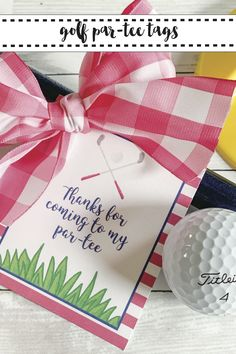 Get these darling FREE printable Golf Par-Tee Favor tags from Everyday Party Magazine #KidsParty #PartyFavors #GolfParty #PreppyParty