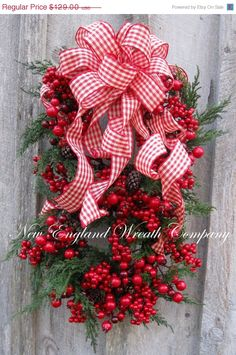 Christmas Wreath, Holiday Wreath, Williamsburg, Colonial Christmas, Designer Christmas Swag, Country Holiday Décor