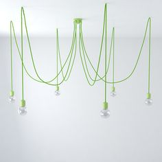 Made in Italy. Green Ceramic Spider with Green cable with pendantsis composed by Lamp holders and Ceiling Roses. The most precious version: Spider with ceramic accessories handmade and decorated in Italy. Pendant Lighting, Chandelier, Wall Lights, Ceiling Lights, Ceiling Rose, Lighting Online, Diy Kits, Light Bulb, Spider