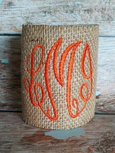 Burlap or Seersucker Koozies. $12.00, via Etsy. Super cute monogrammed t shirts too