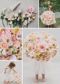DIY floral parasol for your flower girl