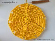 Diandra Arte em Crochê: PAP- TRILHO DE MESA RAIO DE SOL Crochet Doily Diagram, Crochet Flower Patterns, Crochet Doilies, Crochet Flowers, Free Crochet, Knitting Patterns, Sewing Patterns, Knitted Hats, Crochet Hats