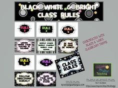 Black White & Bright Class Rules - matches BW collection