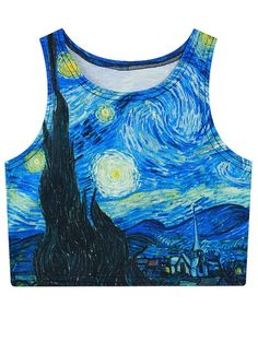 SHARE & Get it FREE | Oil Painting Print Cropped Tank TopFor Fashion Lovers only:80,000+ Items • New Arrivals Daily Join Zaful: Get YOUR $50 NOW!