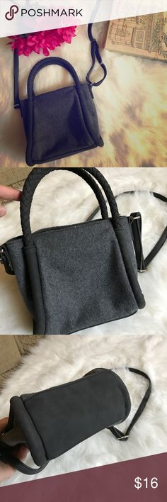 """Danielle Nicole Purse NWOT NWOT Danielle Nicole purse. Light grey/dark grey. Dimensions: 8"""" long, 7"""" tall, 3.75"""" wide. Really long adjustable strap along with the two fixed main ones (4"""" from top of purse). Pet free/smoke free home! Please let me know if you have any questions! 💜💜💜 Bags Mini Bags"""