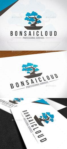 Bonsai Cloud Logo Template