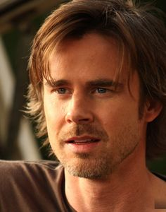 Sam Trammell. I have such a crush on this guy! I know everyone else loves all of the other men on True Blood, but Sam Trammell does it for me.
