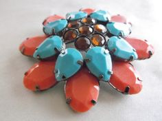 Vintage Mid Century Turquoise Aqua Coral Lucite by MemawsTopDrawer