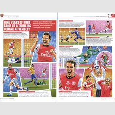 Arsenal FA Cup Winners picture story http://www.thefootballartist.com/