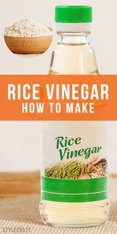 Are you a big fan of Asian cooking? Then you should know how to make rice vinegar at home, because it's not always easily available in your local grocery store. Homemade Wine, Homemade Pickles, Cooking 101, Asian Cooking, Cooking Light, Cooking Lamb, Fermentation Recipes, Canning Recipes, Vinaigrette