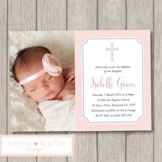 Girl Baptism Invitation Photo Printable / by LittleBelleDesign