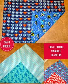 Craft Rookie: Flannel Swaddle Blankets--For Beginners