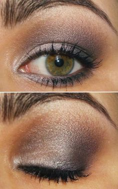 Silver taupe eye....ok how does she get the under part of her eye so perfect?!