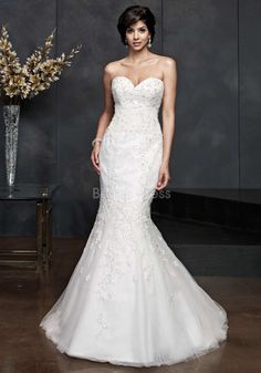 Exquisite Fit N Flare Lace Floor Length Sweetheart Wedding Dress With Sequins