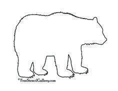xmas bear silhouette pattern free | Bear Silhouette Stencil