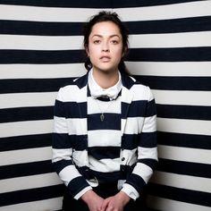 Pattern on pattern, stripes