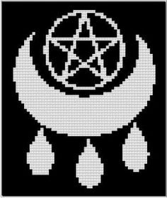 Wiccan Blessings Counted Cross stitch Pattern
