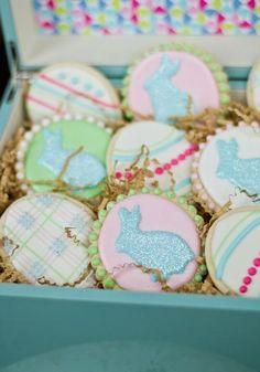 Plaid Easter Cookies