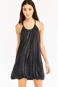 Kimchi Blue Knit Tunnel-Neck Bubble Dress - Urban Outfitters