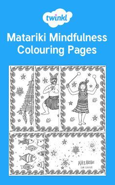 Matariki themed mindfulness colouring! Mindfulness Colouring, Star Cluster, Colouring Pages, Projects To Try, Travel, Color, Maori, Quote Coloring Pages, Coloring Pages