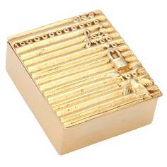 """c.1942-50 #LineVautrin Des milliards de fois s'en vint puis s'envola l'amour - """"Billions of times love came and then flew away"""".  Bronze dore box."""