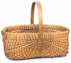White oak basket by the Westfall family.#basket#wicker basket#storage basket
