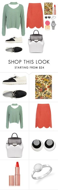 """""""A girl"""" by diabolissimo ❤ liked on Polyvore featuring Frau, Patricia Nash, Boohoo, Alexander Wang, Judith Hendler, Charlotte Tilbury, Dsquared2, BillyTheTree and Raymond Weil"""