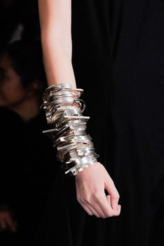 Mechanical Bangle Stack - arm adornment; bold statement jewellery // Ann Demeulemeester