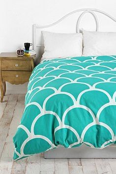 Obviously going a teal direction - great urban outfitters duvet