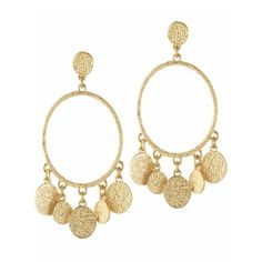 Karen Kane Sandy Beach Chandelier Disc Earrings (565 ARS) ❤ liked on Polyvore featuring jewelry, earrings, chandelier earrings, beach earrings, earrings jewelry, disc earrings and chandelier jewelry