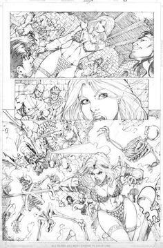 Red Sonja Sample page 03 by DiegoBernard
