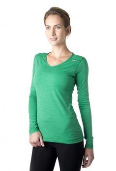 Tofino Merino LS - Women's long sleeve merino wool shirt in rain forest green