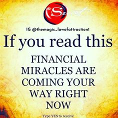 Financial miracles are coming your way right mow Positive Affirmations Quotes, Wealth Affirmations, Affirmation Quotes, Positive Quotes, Manifestation Law Of Attraction, Law Of Attraction Affirmations, Law Of Attraction Quotes, Positive Life, Positive Thoughts