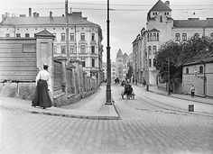 Helsinki, Finland, by I. History Of Photography, Vintage Photography, History Of Finland, Visit Helsinki, Map Pictures, Interesting History, Old Buildings, Beautiful Buildings, Historical Photos