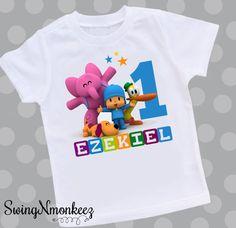 Pocoyo cumpleaños camiseta Tshirt por swingNmonkeez en Etsy