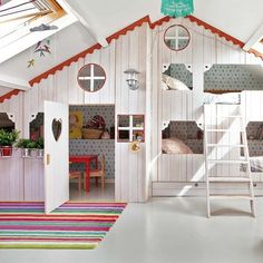 Amazing kids space - would be such a cool transformation for the attic
