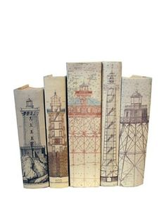 58% OFF By Its Cover Hand-Rebound Set of 5 Lighthouse Decorative Books, I