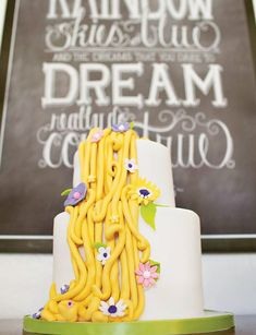 Charming Tangled Inspired Rapunzel Birthday Party // Hostess with the Mostess® Rapunzel Birthday Party, 4th Birthday Parties, Princess Birthday, Princess Party, Tangled Princess, 3rd Birthday, Birthday Ideas, Tangled Party Decorations, Rapunzel Cake