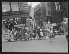 Christmas shopping on Tremont St., 1954