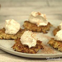These crispy dessert latkes are as sweet as pie — apple pie, that is.