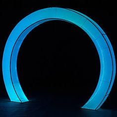 Create an amazing background display with this Multi-Function Lighted Circle ARch that is covered in a white stretch fabric.