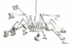 "Remember these lamps from the 80s that clamped onto your desk?  Check out the uber cool ""Dear Ingo"" celing lamp by Moooi.com"