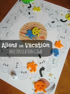 Aliens on Vacation [Printable Multiplication Game] - Relentlessly Fun, Deceptively Educational