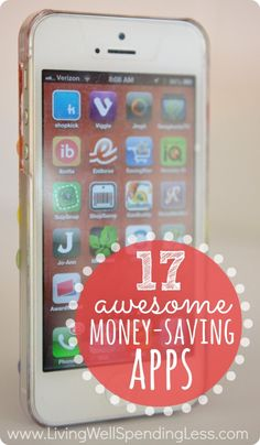17 Awesome Money-Saving Apps - 17 great apps for earning rewards, saving on (almost) everything, and organizing your finances! Ways To Save Money, Money Tips, Money Saving Tips, How To Make Money, Dave Ramsey, Just In Case, Just For You, Great Apps, E Mc2